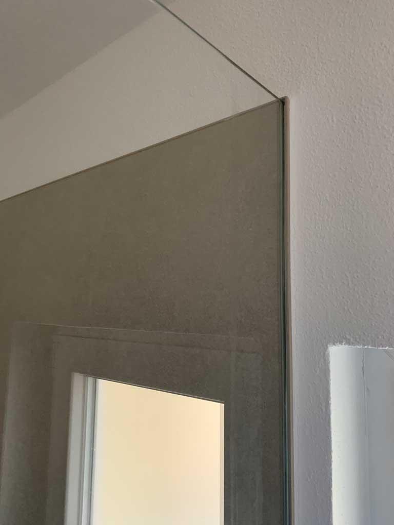 Duschglasscheiben integriert